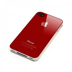 Vitre Arriere iPhone 4 Rouge