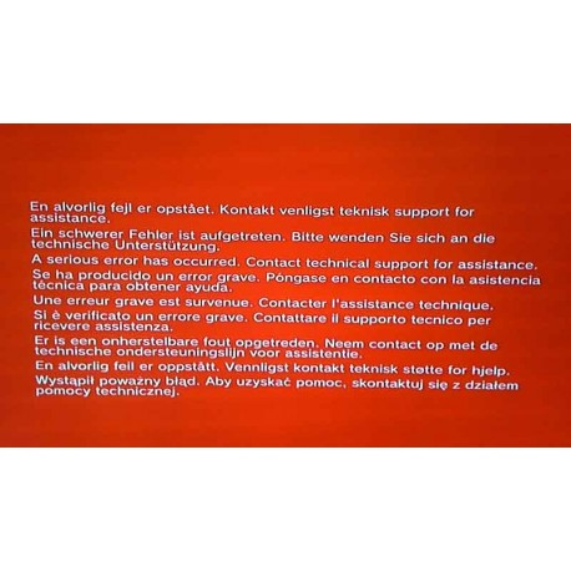 Reparation Ecran Rouge PS3