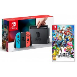 Nintendo Switch Neon + Super Smash Bros Ultimate