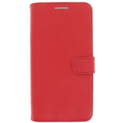 Etui Folio Cuir Rouge Adeqwat iPhone X & XS