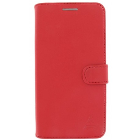 Etui Folio Cuir Rouge Adeqwat iPhone X