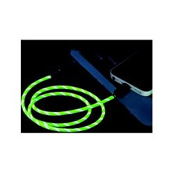 Cable Lightning Lumineux Vert