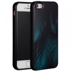 Coque Souple Tropical Vert iPhone 5S & SE
