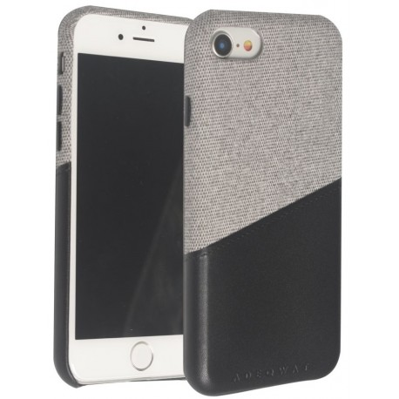Coque Adeqwat Tissus/Sky Gris/Noir iPhone 6, 7 & 8