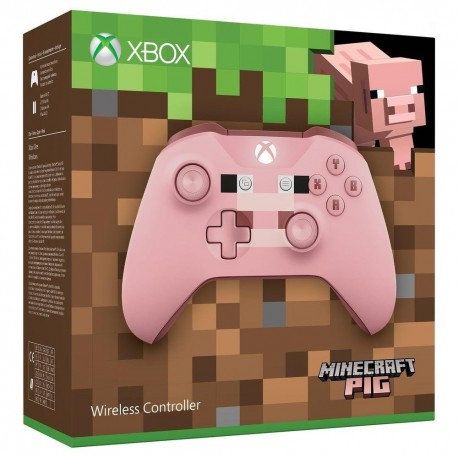Manette Xbox One Pig Edition Minecraft