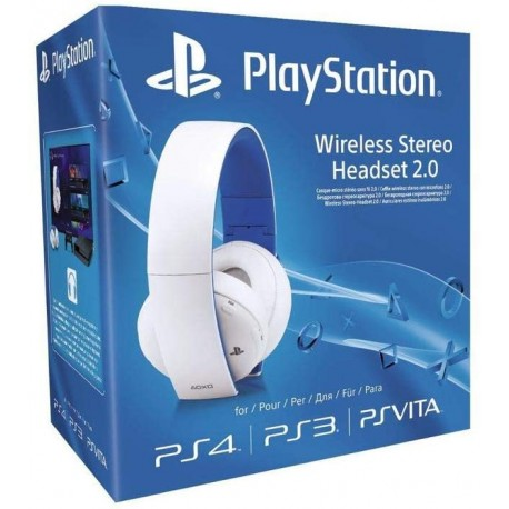 Casque PS4 Wireless Stereo Headset 2.0 Blanc