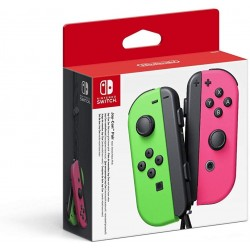 Paire Manettes Joy Con Nintendo Switch Vert / Rose Néon