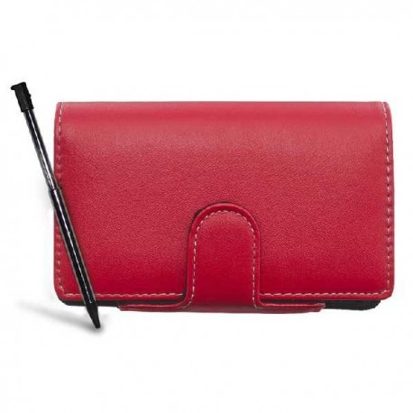 Housse Flip & Play Rouge + Stylet - 3DS