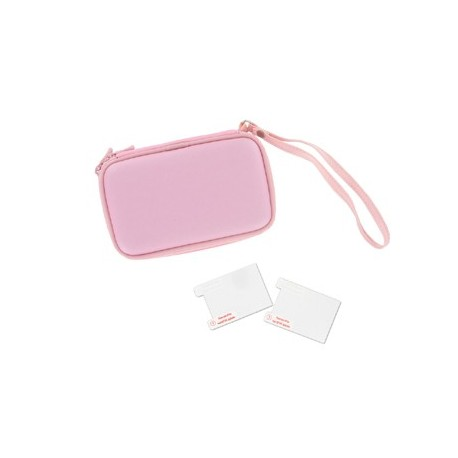 Etuis Rose + Films Protection DS Lite